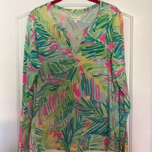 Lilly Pulitzer multi colored long sleeved top.